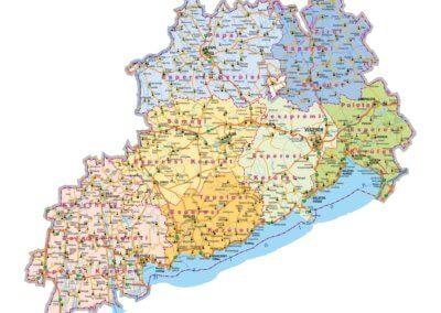 A Veszprémi Érsekség térképe