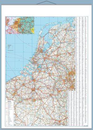 Benelux államok autótérképe