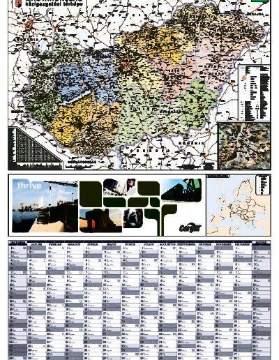 Cargill Zrt. 2016-os tervezőnaptára Magyarország térképpel