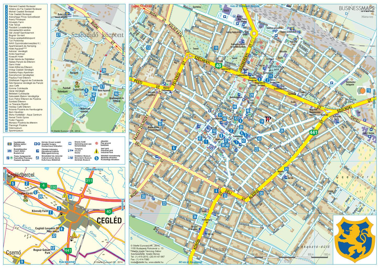 budapest cegléd térkép Hajtogatott térképek | Stiefel Üzleti Térképek budapest cegléd térkép
