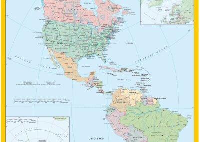 DHL Egyedi Amerika térképe