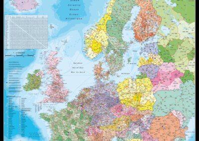 Door to Door Express Európa irányítószámos térképe