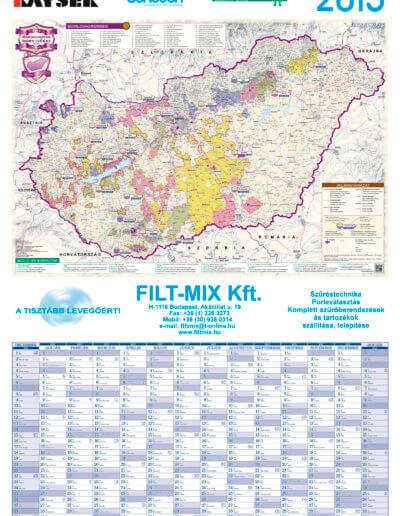 Fit-Mix Kft. tervezőnaptár bortérképpel 2015