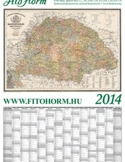 Fitohorm antik Magyarország tervezőnaptár 2014
