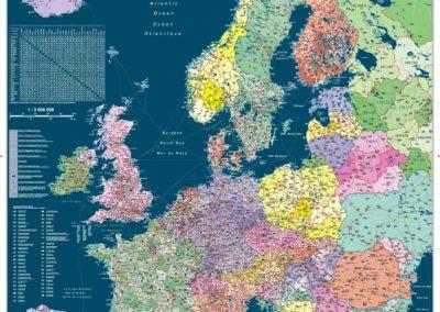 Gefco Európa irányítószámos térképe