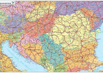 Grundfos Hungária Kft. egyedi Európa térképe