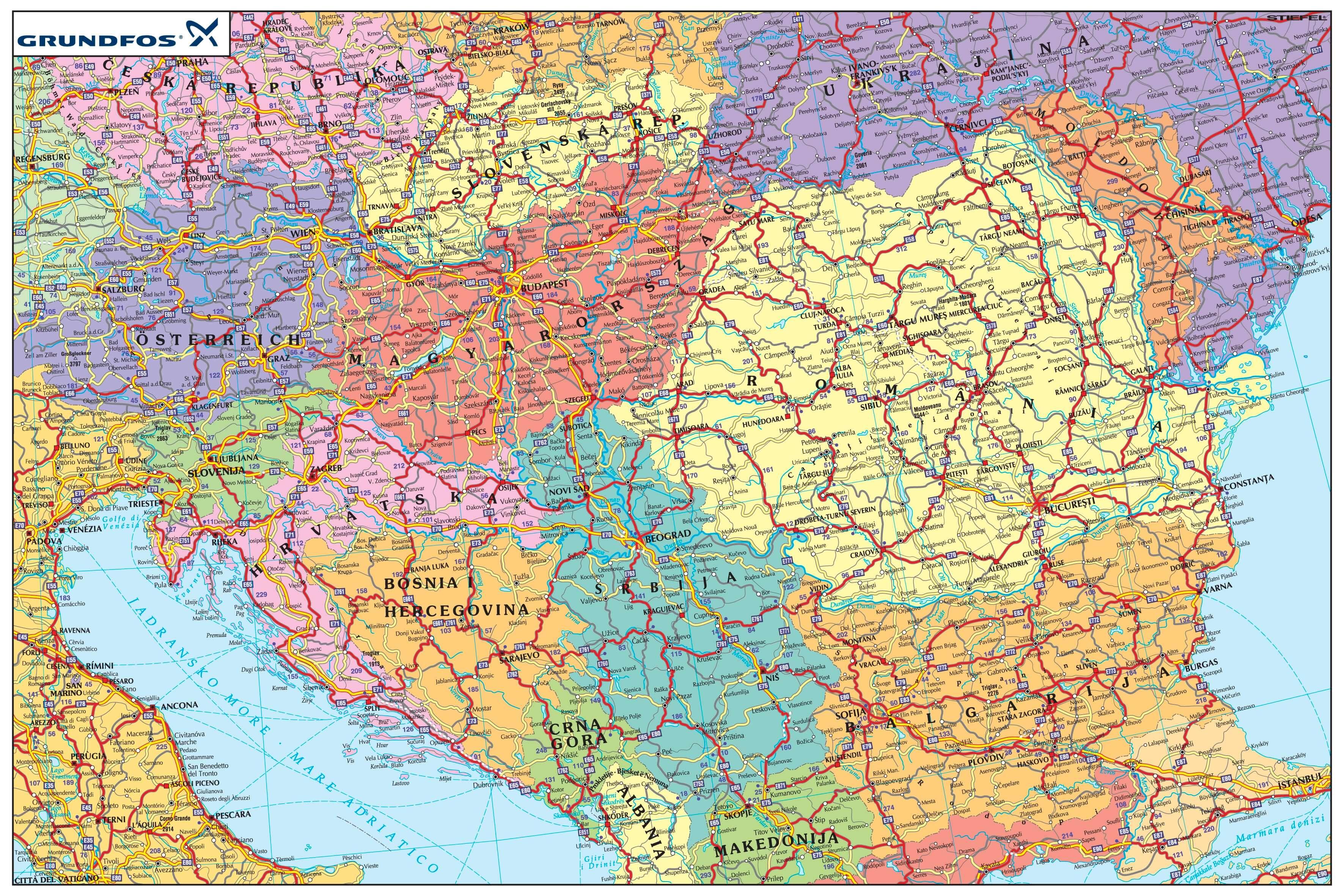 Európa Vasúthálózat Térkép