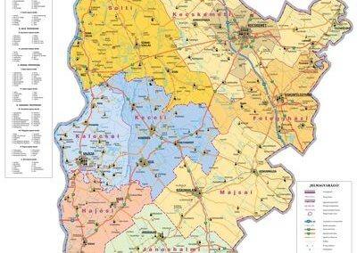 Kalocsa-Kecskeméti Érseki Hivatal főegyházmegye térképe