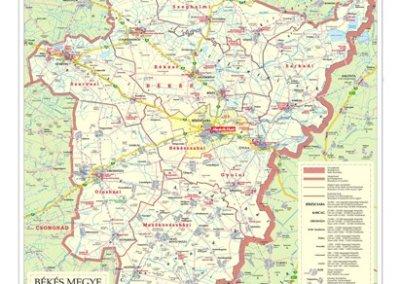 békés megye térkép Falitérképek | Stiefel Üzleti Térképek békés megye térkép