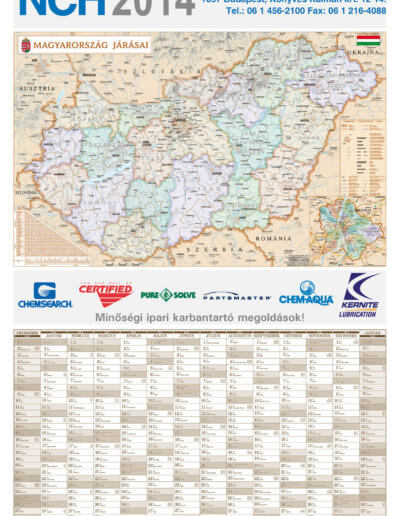 NCH Hungary Kft. tervezőnaptár 2014