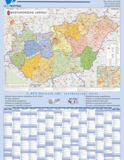 SCI Network Magyarország járástérképe tervezőnaptár 2013