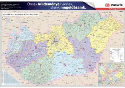 Schenker Magyarország irányítószámos térképe