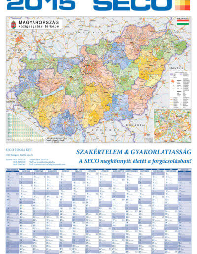 Seco Magyarország tervezőnaptár 2015