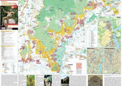 Tokaj és a Tokaji borvidék térképe
